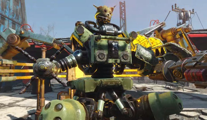 a robot crafting station in Fallout 4 Automatron DLC