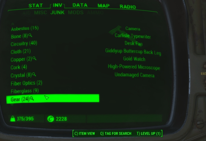 Fallout  Crafting Tag For Search