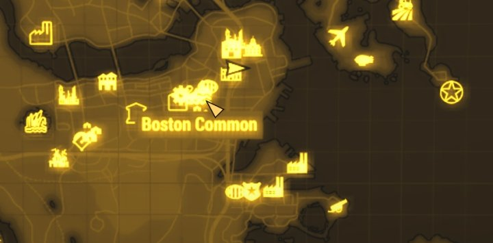 Boston Common on Fallout 4's Map