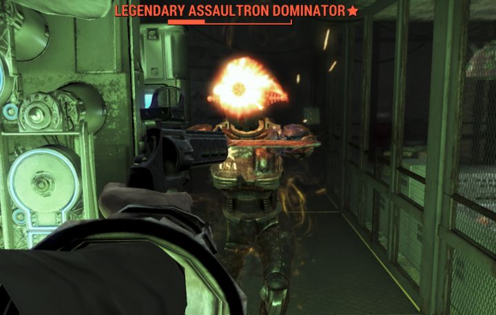 The Assaultron Dominator is one of the harder types of enemies in Fallout 4. Even compared to deathclaws and fog crawlers, due to the robot's speed and strength.