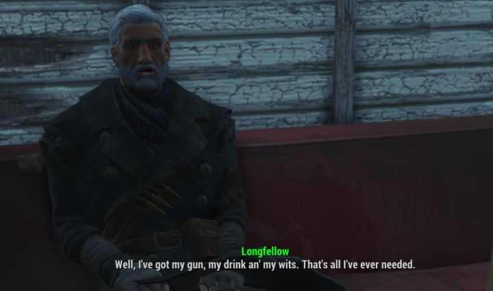 Old Longfellow's likes/dislikes in Fallout 4 Far Harbor