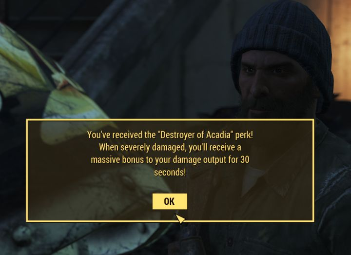 Destroyer of Acadia Perk in Fallout 4 Far Harbor