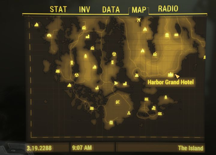Harbor Grand Hotel location in Fallout 4