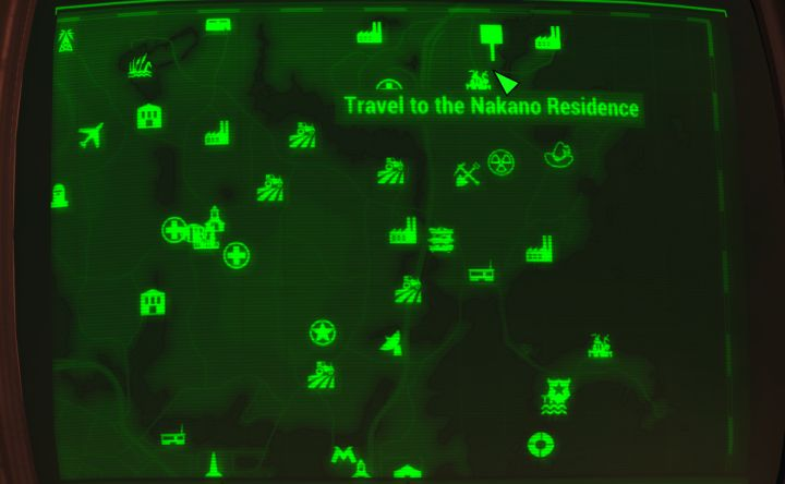 Map to the Nakano Residence for Far Harbor