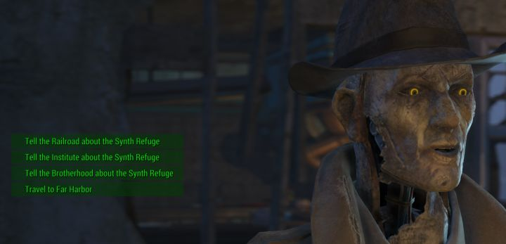 Inform Factions of Synth Refuge in Fallout 4 Far Harbor DLC
