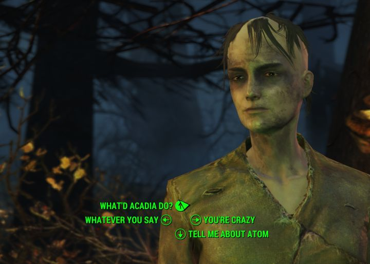 A Child of Atom in Far Harbor asks you to join