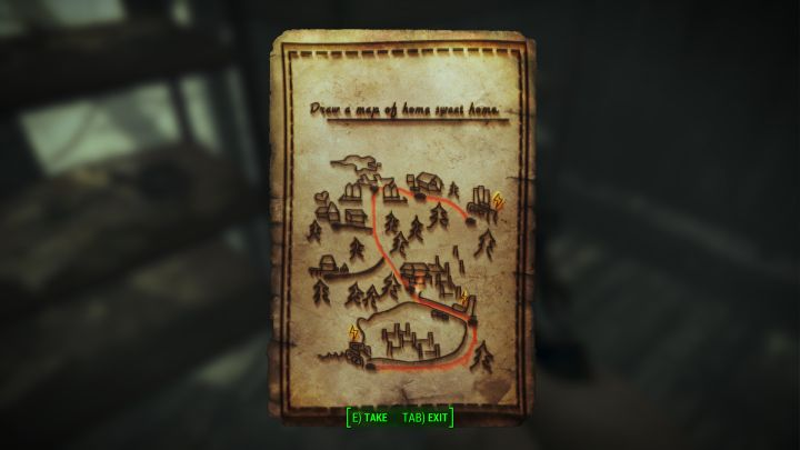 Eliza Map of Home in Fallout 4 leads to a secret in Far Harbor