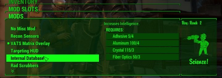 Power Armor can boost Intelligence.
