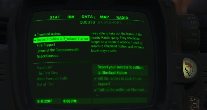 Track Quests with your Pip Boy