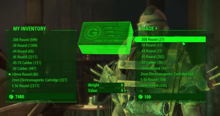 Gage sells items in Fallout 4 Nuka World