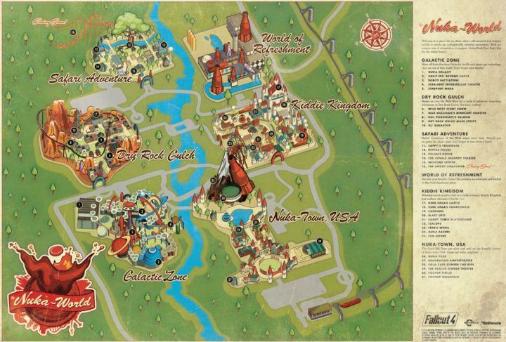Fallout 4 Nuka World Map Picture