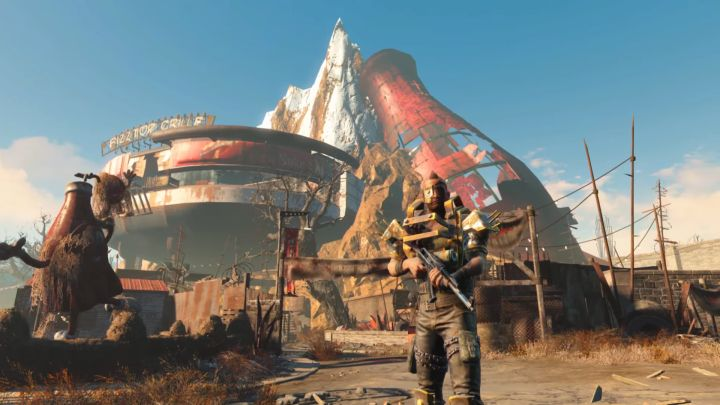 A raider in the Fallout 4 Nuka World DLC