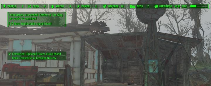 A Nuka World radio transmitter in fallout 4 is used to recruit new raiders to the gang