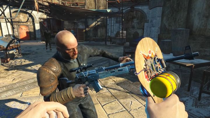 The paddle ball - a new gag weapon in Fallout 4 Nuka World