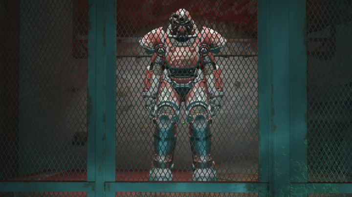 The Nuka Cola Power Armor in Fallout 4 Nuka World is found here