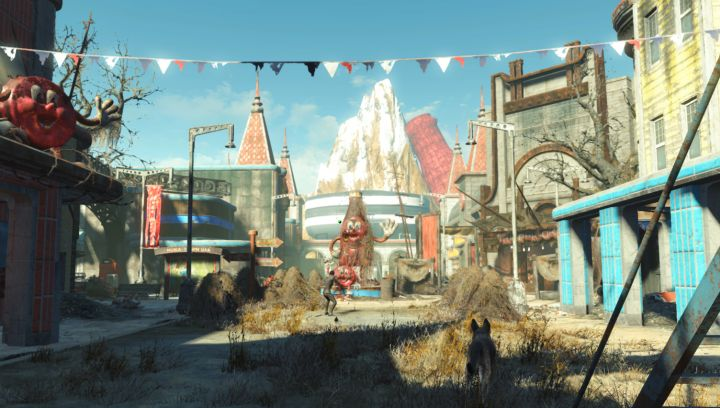Fizztop Mountain in Fallout 4 Nuka World is the location of the Overboss office