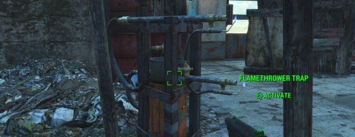 A Flamethrower trap in Fallout 4 Nuka World DLC