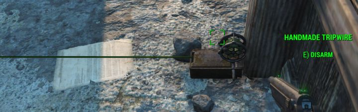 Tripwires you can disarm in Nuka World