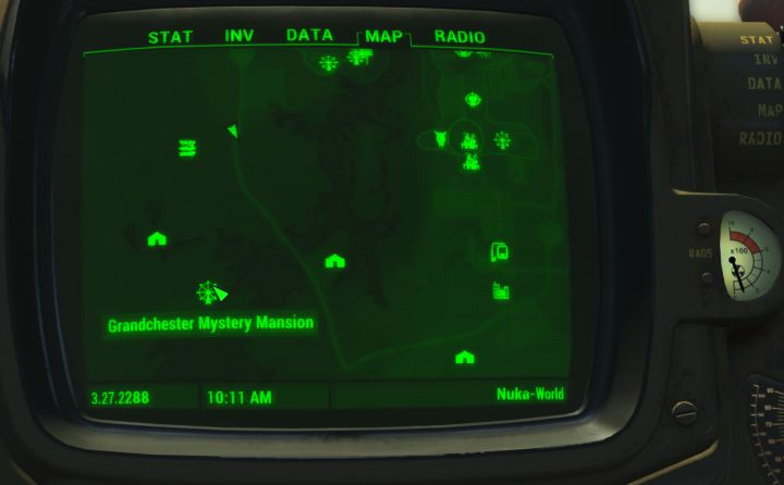 Scav Magazine Issue Number Four Location map in the Fallout 4 Nuka World DLC