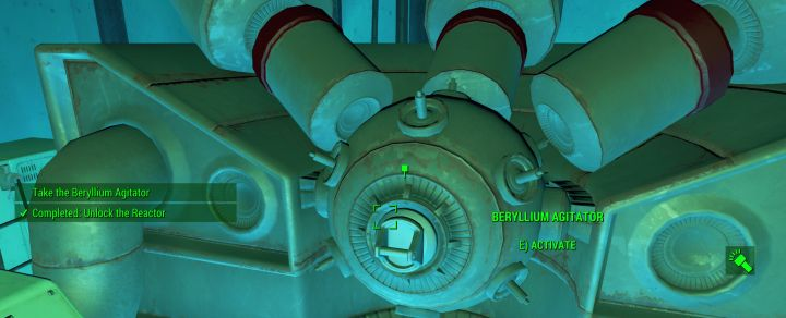 This reactor in the Mass Fusion building houses the Beryllium Agitator you need for the quest