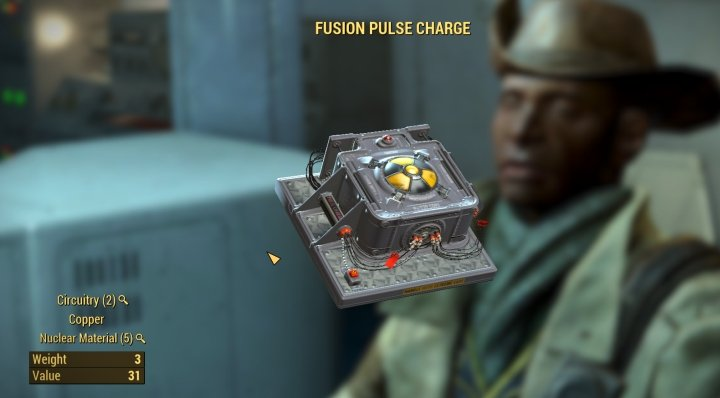 Fusion Pulse Charge for the Institute Reactor