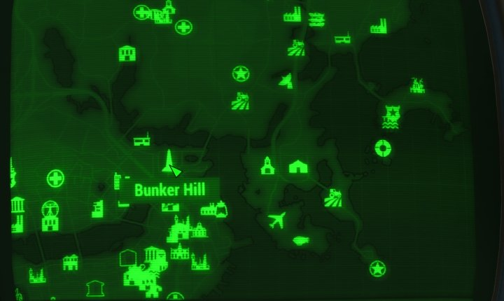 Bunker Hill Map in Fallout 4