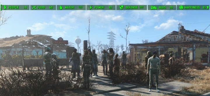 A maximum happiness Settlement in Fallout 4