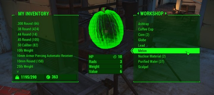 free resources deposited from having excess materials in Fallout 4