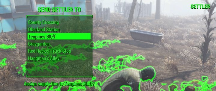Establishing a supply-line in Fallout 4