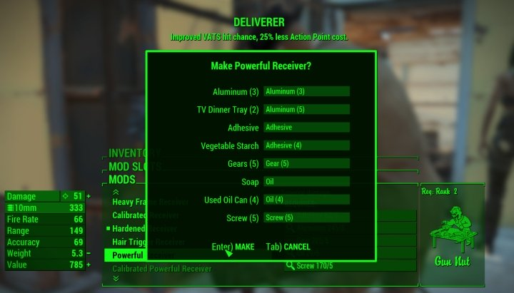 AP Cost Deliverer in Fallout 4