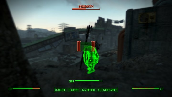 Maxed Blitz distance in vats in Fallout 4