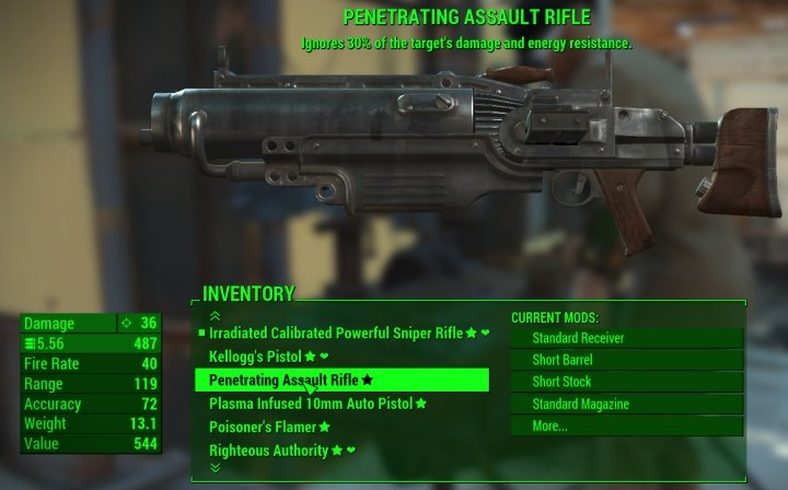 Most non-revolvers and big guns can be made into automatic weapons that benefit from the Commando Perk.