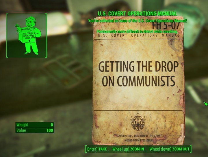 Fallout 4: Sneak Perk Guide