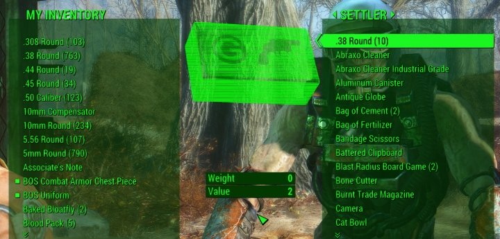 Shop in Fallout 4's Sanctuary Settlement to sell items