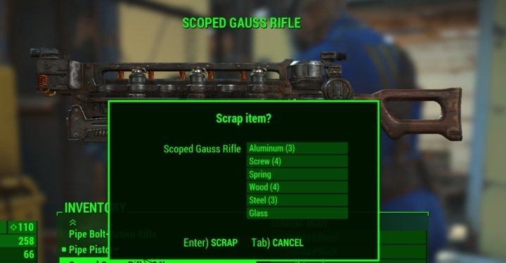 Fallout 4's Scrapper perk helps you get rare items when salvaging weapons and armor