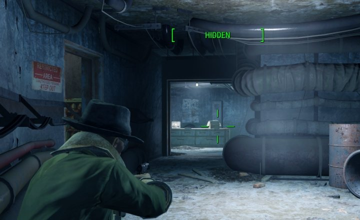 Stealth Mode in Fallout 4 Prevents enemies from detecting you.