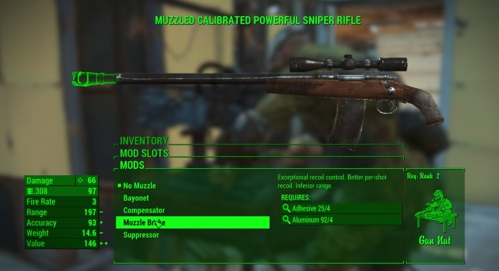 Fallout 4 VATS: Weapon Type, Mods and AP Cost