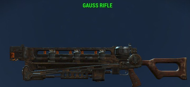 Fallout 4 Gauss Rifles, Max Damage and Finding One